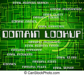 Domain Lookup Means Word Researcher And Words - Domain...