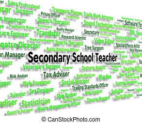 Secondary School Teacher Shows Senior Schools And Career -...