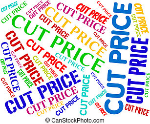 Cut Price Indicates Expense Reduce And Reduction - Cut Price...