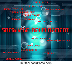 Software Development Shows Forming Growth And Softwares -...