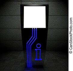 3d blank street touch screen