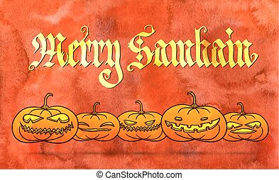 Merry Samhain greeting card - Merry Samhain - big pagan...