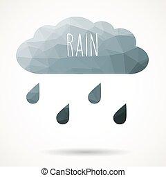 雲, 三角, 雨