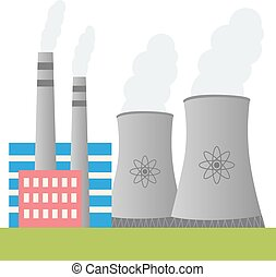 Nuclear power plant design - Illustration of nuclear power...