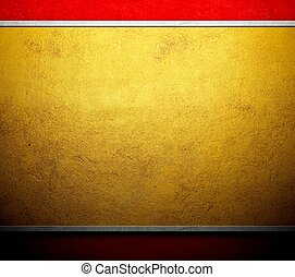 Gold template metal canvas background