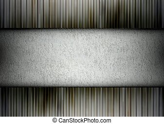 Concrete and metal template, background