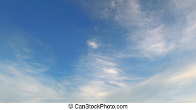 beautiful blue sky with light clouds