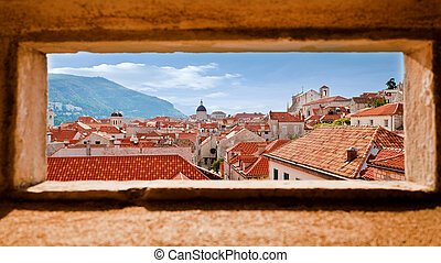 Old Town Dubrovnik - Beautiful view of the walled city,...