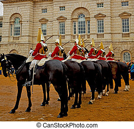 in london england horse and cavalry for the queen - in...