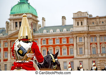 for the queen in london - in london england horse and...