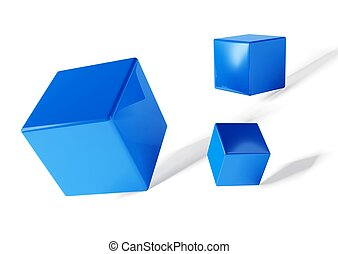 3d cubes on white background