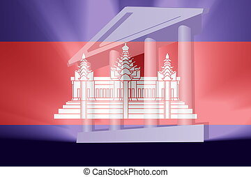 Cambodia flag government - Flag of Cambodia, national symbol...
