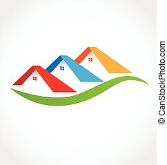 Real estate houses logo business design