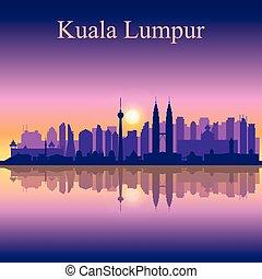 Kuala Lumpur city skyline silhouette background