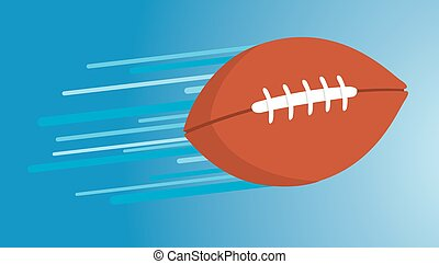 American football thrown and floating fast - Cartoon...