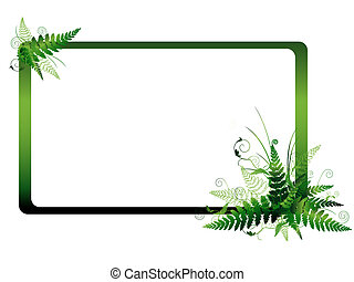 fern frame - Illustration of the fern frame with copyspace...