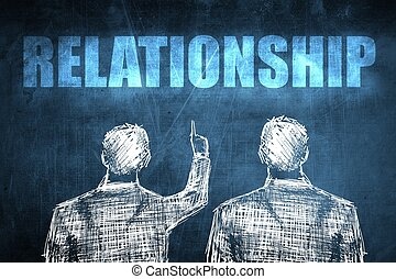 Two successful businessman showing relationship, business...