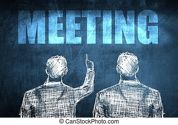 Two successful businessman showing meeting, business concept...