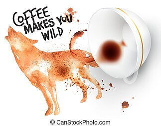 Poster wild coffee wolf