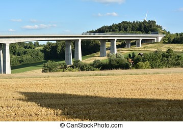 Highway bridge in Trockau on the A9 motorway