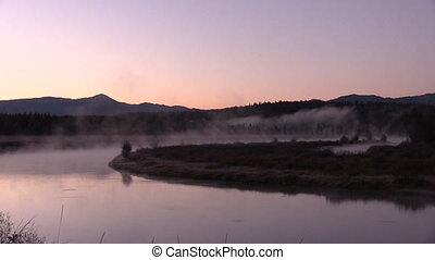 Sunrise at Oxbow Bend - a beautiful fall landscape just...