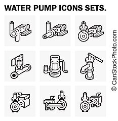 Pump icons - Water pump icons sets