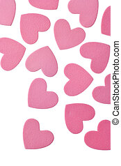 Valentines Day Hearts - Valentines Day Foam Hearts Isolated...