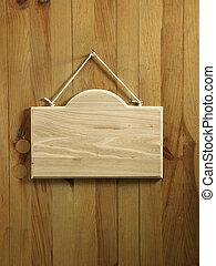 signage - blank wooden signage
