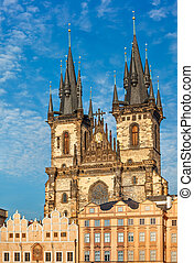 temple Our Lady before Tyn in Prague, Czech republic