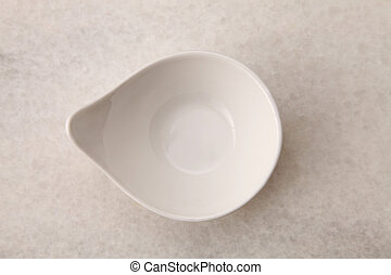 saucer - top view of the white saucer