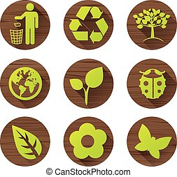 woody nature icons