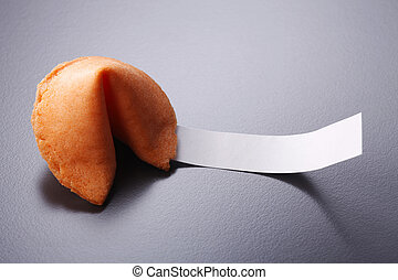 fortune cookies - close up of the fortune cookies with blank...
