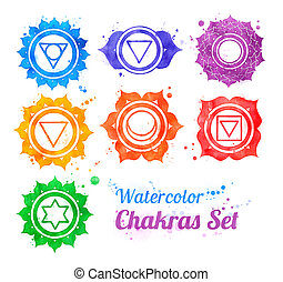 Chakra symbols.