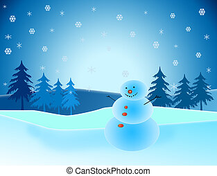 Clip Art Winter Scene Clipart winter scene clipart and stock illustrations 8911 snowman in with trees snow