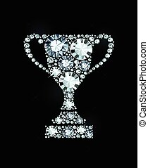 Diamond Trophy Award - Trophy Award Made of Diamonds
