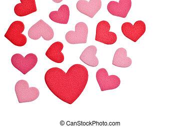 valentine\'s, cœurs, mousse, jour