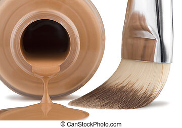 Decorative cosmetics - Cosmetics for face, brush, close-up...