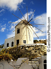 Windmill in Naxos, Greece - Windmill by a nice summer day in...