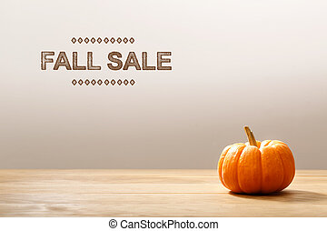 Fall Sale message with a orange pumpkin