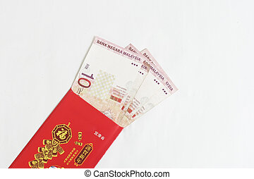 Chinese New Year Red Packet with moneys