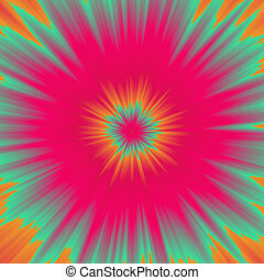 Colorful illustration of color burst from center of image