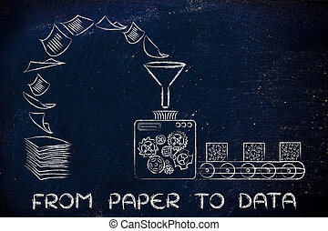 from paper to data: factory machines turning documents into organised data