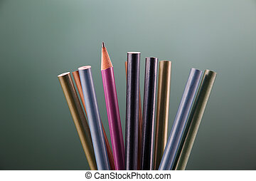 outstanding - sharp pencil standing out from others