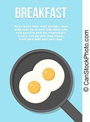 Fried eggs illustration