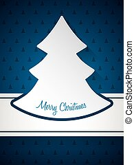 Christmas greeting with christmastree pattern background -...