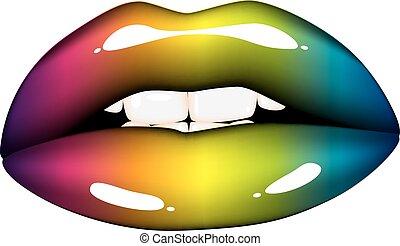 Rainbow mouth