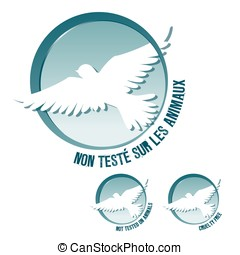 French and English Cruelty free logos