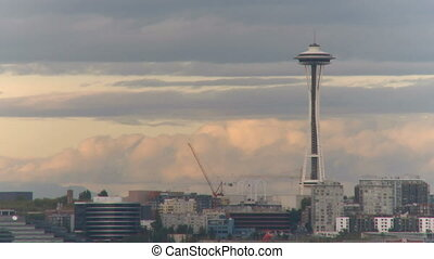 Seattle Space Needle - time lapse 2 of 3