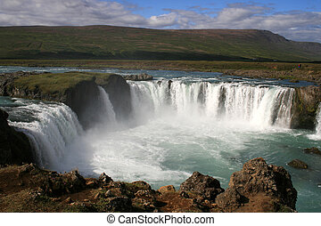Godafoss waterfall, Iceland - Godafoss, Fall of the Gods,...