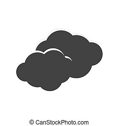 Icon clouds, storms and bad weather - Vector icon clouds and...